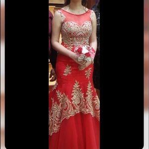 Tiffany Designs Dresses - Red Prom Dress
